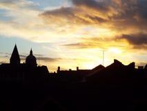 Opinión del horizonte de la ciudad Imagenes de archivo