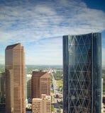Opinión del horizonte de la ciudad de Calgary Imagenes de archivo