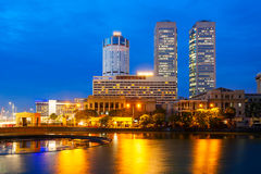 Opinión del horizonte de la ciudad de Colombo Imagen de archivo