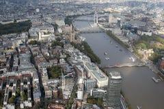 Opinión del horizonte de la ciudad de Londres desde arriba Fotos de archivo