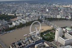 Opinión del horizonte de la ciudad de Londres desde arriba Imágenes de archivo libres de regalías