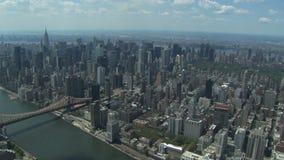 Opinión del horizonte de New York City almacen de metraje de vídeo