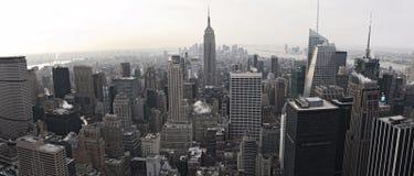 Opinión del horizonte de New York City de Rockefeller Imagenes de archivo