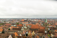 Opinión del horizonte de Nuremberg Fotografía de archivo