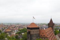 Opinión del horizonte de Nuremberg Fotografía de archivo libre de regalías