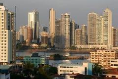 Opinión del horizonte de Panama City Foto de archivo