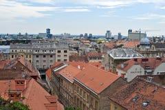Opinión del horizonte de Zagreb imagenes de archivo