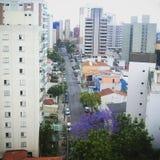 Opinión del horizonte del paisaje urbano desde arriba Foto de archivo