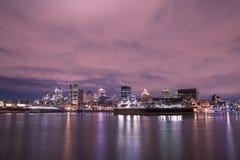 Opinión del horizonte sobre Montreal Imagen de archivo