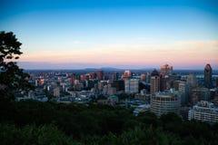 Opinión del horizonte sobre Montreal imagen de archivo libre de regalías