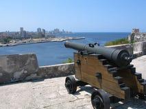 Opinión del horizonte y de la bahía de La Habana Imagen de archivo