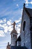 Opinión del infrarrojo de la abadía de Mont Sainte Odile Fotografía de archivo libre de regalías