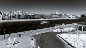 Opinión del infrarrojo del paisaje de la ciudad de Moscú Foto de archivo
