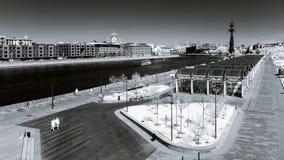 Opinión del infrarrojo del paisaje de la ciudad de Moscú Imagenes de archivo