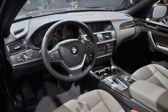 Opinión del interior de BMW fotos de archivo libres de regalías