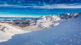 Opinión del invierno de la cumbre de Kasprowy Wierch, montañas de Tatra Fotos de archivo