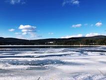 Opinión del invierno de Stockbridge Foto de archivo libre de regalías