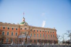 Opinión del invierno del castillo de Mikhailovsky Foto de archivo