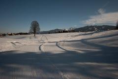 Opinión del invierno en Austria Foto de archivo libre de regalías