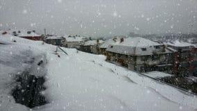 Opinión del invierno Nevado metrajes