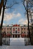 Opinión del invierno del palacio de Kadriorg tallinn Estonia imágenes de archivo libres de regalías
