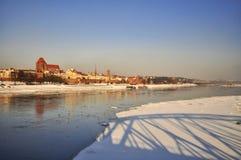Opinión del invierno, Torun Fotos de archivo libres de regalías