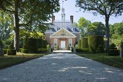 Opinión del jardín del palacio del gobernador Imagen de archivo libre de regalías