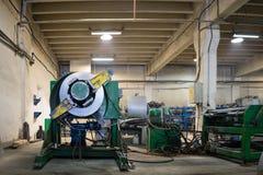 Opinión del lado derecho de una máquina verde resistente Fotografía de archivo
