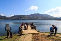 Opinión del lago Abant Fotos de archivo