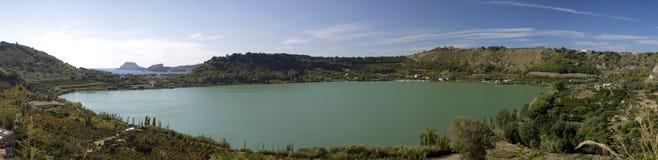 Opinión del lago Averno Imágenes de archivo libres de regalías