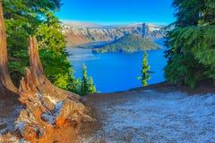 Opinión del lago crater Imagen de archivo