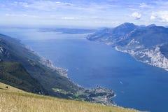 Opinión del lago Garda Imagen de archivo libre de regalías