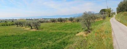 Opinión del lago Garda en la región Italia de Véneto Fotografía de archivo