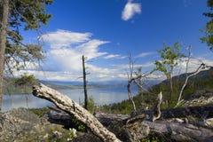 Opinión del lago Okanagan Fotos de archivo libres de regalías
