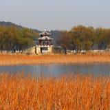 Opinión del lago Pavillion Imágenes de archivo libres de regalías