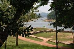 Opinión del lago Periyar, Thekkady, Kerala imagenes de archivo