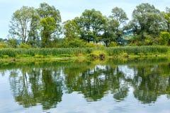 Opinión del lago summer Fotografía de archivo