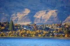 Opinión del lago Wanaka en Nueva Zelanda Imagen de archivo