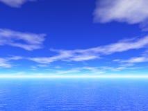 opinión del mar 3d y del cielo stock de ilustración