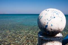 Opinión del mar de Kamari fotografía de archivo libre de regalías