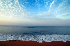 Opinión del mar de Kerala Foto de archivo libre de regalías