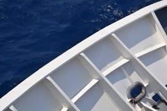 Opinión del mar de la cubierta Fotos de archivo