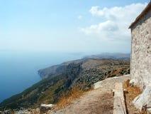 Opinión del mar de la isla croata Foto de archivo