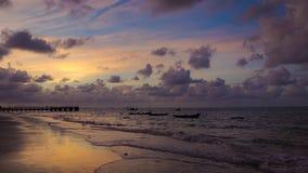 Opinión del mar de la luz corta Foto de archivo