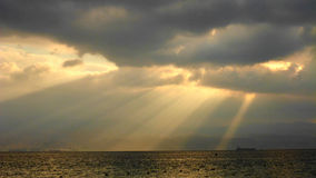Opinión del mar de la montaña Fotografía de archivo libre de regalías