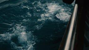 Opinión del mar de la navegación del barco en el océano de South Pacific en Polinesia francesa almacen de video