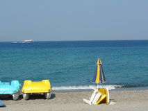 Opinión del mar de la playa imagen de archivo