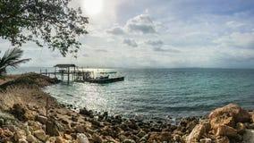Opinión del mar de la playa de Koh Talu, Tailandia Fotografía de archivo libre de regalías