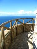 Opinión del mar de la terraza imagenes de archivo