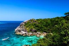 Opinión del mar Opinión de océano Islas coloridas imagen de archivo